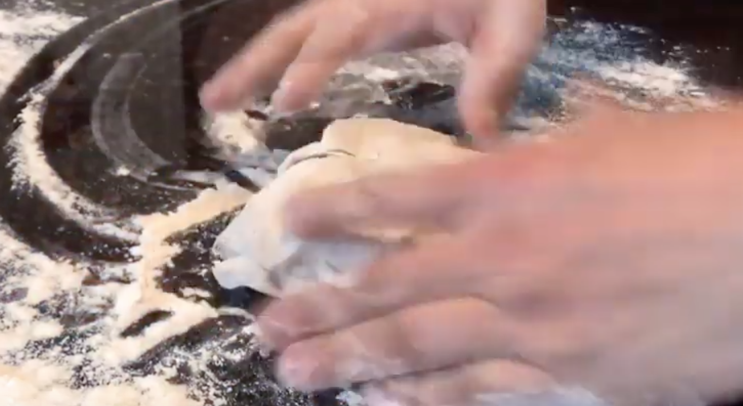 Rolling that dough for my Pizza OS